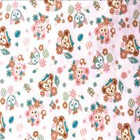 Venta al por mayor 100 * 143cm ShellieMay Duffy Oso Gelatoni gato tejido de algodón para la costura Fat Quarter Quilting patchwork muñeca Kids Bedding Patchwork