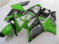 Wholesale New Injection Mold ABS motorcycle bike fairing kits For kawasaki ninja ZX R ZX R ZX6R bodywork set green and black