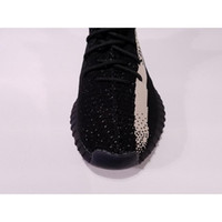 Wholesale New Collection Y Boost V2 Black With White Stripe Kanye West New SPLY Men Women Running Shoes Fashion Footwear sply350 Size8