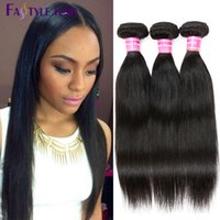 achat en gros de cheveux péruviens vierges faibles-Fastyle Peruvian Straight Hair Weave 5pc / lot Dyeable Brazilian Malaysian Indian Unprocessed Virgin Hair Bundles High Quality Low Price