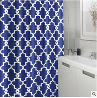 Wholesale geometry pattern polyester fabric waterproof thickening bathroom shower curtains with hooks cm