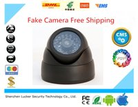 Wholesale LUCKER SECURITY Home Security Fake Dummy Camera Simulated video Surveillance Ir Led Flashing Dome