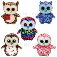 big eyed kids - TY Plush Animal Beanie Boos Owl cm Cute Ty Big Eyed Brown Blue Pink Multicolor Owl Stuffed Animals Kids Toys Gifts