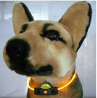Wholesale New Pet Collars Dog cat Led light collars Flashing light Collars more color can choose cm mm