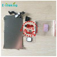 Para iphone 5 5S 5C LCD Asamblea Digitizer Conjunto completo Pequeño Reparar Parte Metal Shield Placa Frontal Cámara Oreja Altavoz Inicio Botón Flex