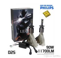 Wholesale 90W LM For Genuine PHILLPS Car LED Headlight Kit Set H1 H3 H4 H7 H9 H11 HB3 HB4 HB5 H13
