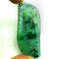 YZ02694 verde ónix Ágata Colgante Perla DIY Joyería Hacer Piedra