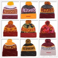Wholesale Football Redskins Beanies Winter High Quality Washington Red Beanie For Men Women Skull Caps Skullies Knit Cotton Hats On Field