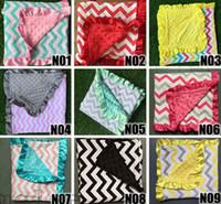 Cotton Fiber baby blanket pattern knit - 2017 ins baby minky blankets infant zigzag chevron swaddle children flower leopard camouflage blankets boys girls gold dot owl blankets