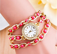 Wholesale Circumference Rhinestone edge Quartz Watches Fashion Metal bend Bracelet Watches Multicolor bend Square watches for Women
