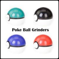 NUEVO Popular Poke Ball Grinders 3 Piezas 52mm PokeBall Rectificadoras Aleación De Zinc Plástico Herb Metal Grinders 4 Colores Disponibles