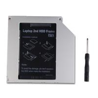 Venta al por mayor universal de 9.5mm CD DVD-ROM óptica de la bahía IDE / PATA a SATA 2 HDD Hard Disk Driver Caddy bandeja para portátil
