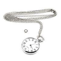 al por mayor de bolsillo antiguo reloj de plata-Reloj de bolsillo redondo del cuarzo del reloj de bolsillo de la vendimia de la vendimia del collar de la cadena de la plata del estilo antiguo pendiente de la personalidad 2015