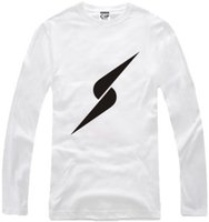artwork sleeves - Men s parkour simple lightning print long sleeve t shirt Cotton Authentic Designs With Detailed Artwork Machine Wash No Shrinking