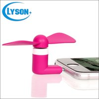 Wholesale For Android micro USB portable mini fan pin flexible portable super mute cooler hand held color