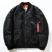 baseball bat sleeve - Brand Mens Jacket Bomber Ma1 Cotton Clothing Men Winter Bomber Jackets Nasa Air Force Baseball Military Thickening Bomber Jacket And Coats