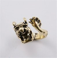 anniversary gift ideas for women - 10pcs Fairy Tale Dragon Rings Cute Horn Animal Rings for Women Anels Children Birthday Gift Idea