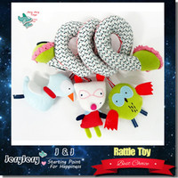 Wholesale Kawaii Infant Baby Toys Mobile Toys For Kids Newborn Baby Cot Beds Rattle Stroller Toys Doll Educational Kid Rattles