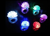 Wholesale 2016 LED Silicone Ring Light Ring Flash Light LED Mitts Cool Led Light Up Flashing Bubble Ring Rave Party Blinking Soft Jelly Glow Party