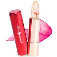 Wholesale 2016 Newest Brand Kailijumei Magic Color Temperature Change with Actual Flowers Moisturizer Bright Surplus Lipstick Lips Care Colors