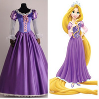 Men best l cosplay - Adult Rapunzel Fancy Dress Halloween Tangled Cosplay Costume The Best Quality Anime Outfit Custom