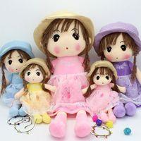 Wholesale 2017 manufacturers selling Seiko secretive cute girl straw hat doll girl doll girl girlfriend birthday gift cm55cm70cm80cm