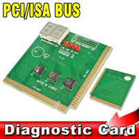 Wholesale PCI ISA BUS Diagnostic Card Motherboard Analyzer Tester Post Checker Professional for Laptop PC Computer Digit Mainboard
