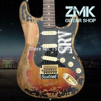alder guitar wood - New Style high quality handmade RELIC ST electric guitar Alder wood body and Rosewood fingerboard SRV ST guitar