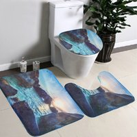 best bathroom products - Best Promotion Soft Flannel Rock Sea Contour Pedestal Rug Lid Toilet Cover Bath Mat Carpet Bathroom Product