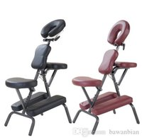 tattoo chair - Modern Portable Leather Pad Massage Chair With Free Carry Bag Salon Furniture Adjustable Tattoo Massage Dental Spa Chair Sale