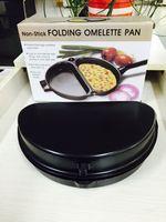 Wholesale Folding Omelette Pan Fried Eggs Pot Handle Non Stick Cookware Outdoor Portable Foldings Pots Boiler Egg Holloware Stay Cool qw
