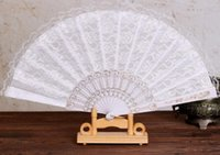 Wholesale 10PCS Summer Vintage Black White Lace Bamboo Hand Held Fan Party Dancing Wedding Fan Brand New