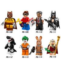 achat en gros de arkham farceur-DHL 60Set Blocs de Construction Super Heroes Figures King Tut Dick Grayson Arkham Asylum Joker Mars Harriet Orca Enfants Jouets PG8033