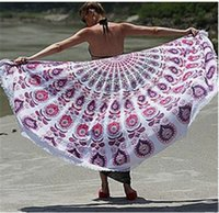 Wholesale Hot Stylr Round Mandala Beach Towel Tapestry Hippy Boho Tablecloth Bohemian Serviette Cover Beach Shawl Indian Wrap Yoga Picnic Mat