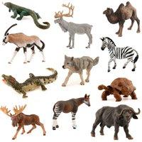 Wholesale Various Species Size PVC Wild Animals Camel Lizard Zebra African Buffalo Reindeer Crocodile