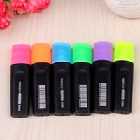 Wholesale Student stationery Children color marker Candy color hightligter Nite write pen six colors Blue Orange Purple Pink Green colorful cute