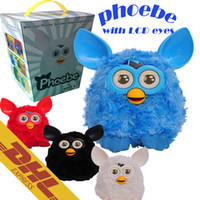 big bird toys - 18pcs Phoebe Elves CM LCD Eyes Russian English Furby Boom Firbi Plush Talking Recording Figure Christmas Costumes Pet Toys for Kids