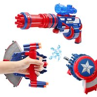 Wholesale Captain America shield electric bullet gun bursts of children s water toy Children s Day gift water gun