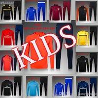 Wholesale football jerseys Quality Latest Real Children s Long Sleeve Training Wear European Cup League RealMadridBarcelona