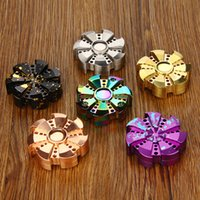 Hand spinner Aluminum Alloy/Brass /Copper Big Kids Original V2 EDC Hand Spinner Rose Turbine Ceramic Bearing Focus Toy Hand Fidget Spinner Fidget Toy Gift for Kids Adults