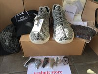 Unisex Mesh PU TOP 2017 DHL double box kamatiti PU+RBSole best quality 1:1 shoes 350 V2 Moonrock Oxford Tan Pirate Black Running shoes snakers with bag.