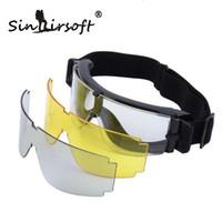 airsoft wars - Sinairsoft USMC Airsoft x800 Tactical Cycling Eyewear SunGlasses War games Goggles Wind proof mirrors GX1000 Black Lens