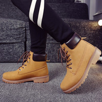 Wholesale Suede leather man boot Winter men boots ankle shoes warm snow velvet fur work flats martin cowboy motorcycle male shoe lace up