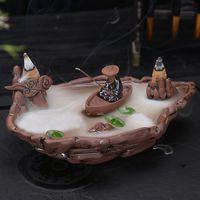alpine home - Backflow incense burner ceramic Zisha aroma furnace home accessories craft creative cute Decoration Alpine water