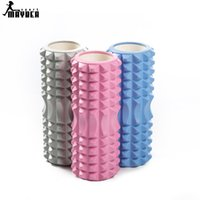Wholesale 2016 Yoga Pilates Fitness Foam Roller Yoga Column Train Gym Massage Grid Trigger Point Therapy Exercise Physio A111500