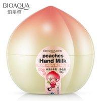 Wholesale Peach Whitening hand cream firming skin moisturizing whitening exfoliate hand Moisturizing moisture body cream SBF017