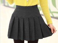 Wholesale New women high waist pleated skirt Plissee jupes tutu talonnage des nouvelles femmes