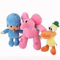 bass school - 22 cm Pre school POCOYO Pocoyo Elly Pato Learning Laughter Movies TV Cartoon Video Stuffed Plush Toys Dolls Anime Gift