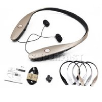 Wholesale For HBS Bluetooth Headphone Earphone Wireless Stereo Headset Fashion Sport Neckband Black Meck Strap In ear NO LOGO Retail Package
