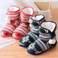 ball pad printing - new winter snow ball wool Home Furnishing boots cotton padded shoes floor home warm shoes